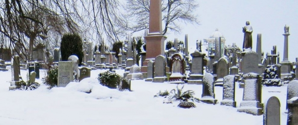 Graveyard In Winter