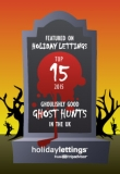 GhostWalk in TOP 15 Ghost Hunts in UK (TripAdvisor Hiliday Lettings Oct 2015)
