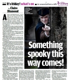 Scottish Daily Mail, Friday 17th October 2014 - coverage of the Scottish Paranormal Festival