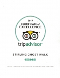 5-Star Entertainment - Stirling GhostWalk's TripAdvisor Certificate of Excellence 2017!