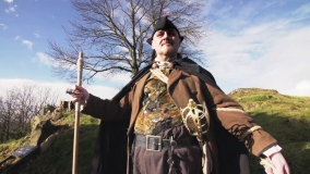 The Hangman, happy to help out promoting his favourite haunts for DestinationStirling.Com's 2015 promotional video!
