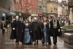 Reservoir Bats! The undead take over Port Street, Stirling, to promote the Scottish Paranormal Festival