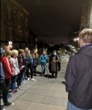 Aberdonian teens first experience of Stirling...and its Happy Hangman, 4 Oct 2018 (Photo courtesy of Chris Whyte)
