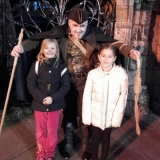Brogan McAnish and friend meet the Happy Hangman, on a VERY chilly April evening