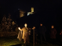The Stirling Ramblers' GhostWalk commences, on 21st November 2014 (all SRC photos courtesy of Denis Taylor)