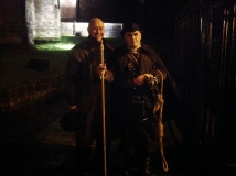 Denis Taylor of the Stirling Ramblers' Club, at the end of their GhostWalk on 21st November 2014