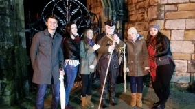 Some of The Hangman's Elves (He's Santa too, sometimes) from East Kilbride join the GhostWalk - 28th December 2015
