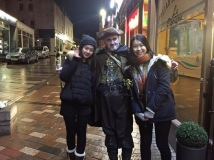Two charming Chinese ladies who joined The Hangman for the GhostWalk on Saturday 28th January 2017