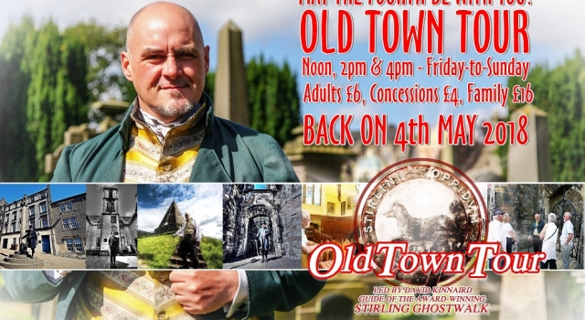 OLD TOWN TOUR back on 4th May 2018